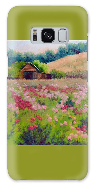 Flower Field Galaxy Case by Nancy Jolley