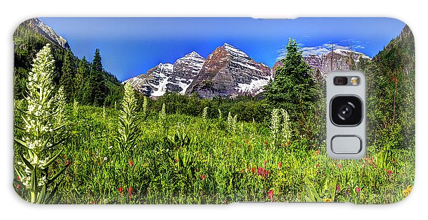 Flower-filled Meadow At Maroon Bells Galaxy Case