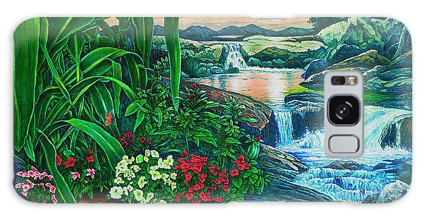 Flower Garden Ix Galaxy Case by Michael Frank