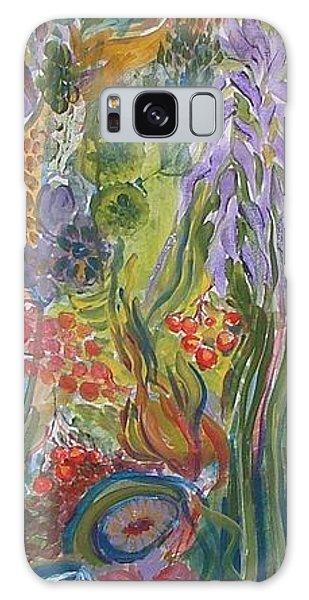 Flower Garden Galaxy Case by Rita Fetisov