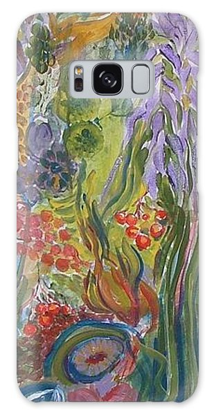 Flower Garden Galaxy Case by Rita Fetisov