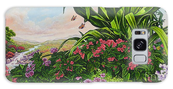 Flower Garden Vii Galaxy Case by Michael Frank