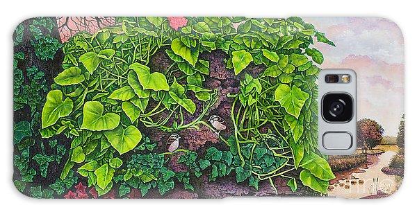 Flower Garden Viii Galaxy Case by Michael Frank
