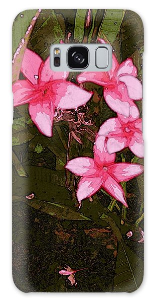 Galaxy Case featuring the digital art Flower Gems by Winsome Gunning