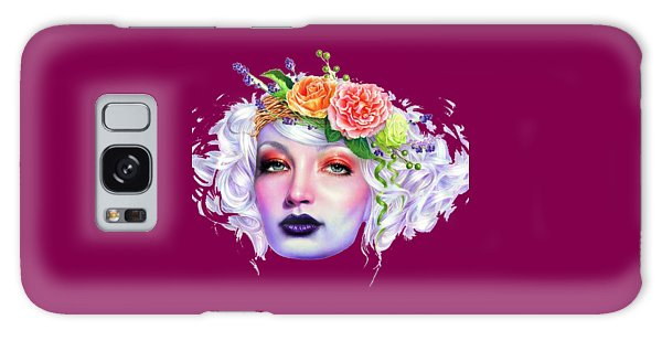 Flower Girl T-shirt Galaxy Case by Herb Strobino