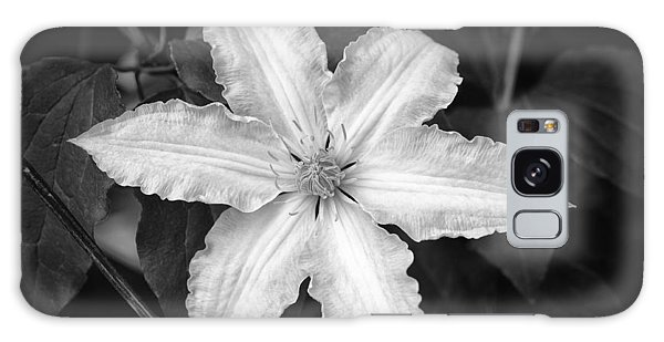 Flower In Black And White Galaxy Case
