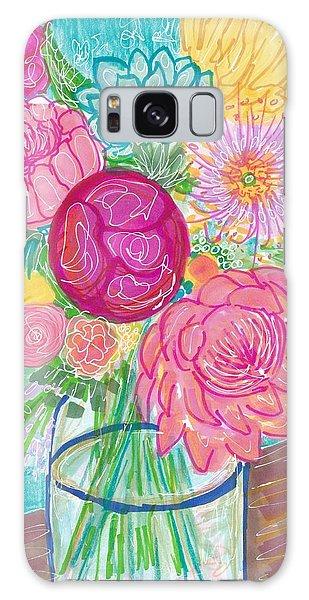 Flower In Vase Galaxy Case