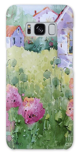 Flower Lady's Poppies Galaxy Case