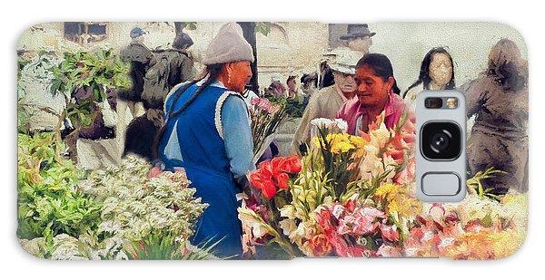 Flower Market - Cuenca - Ecuador Galaxy Case