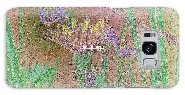 Flower Meadow Line Galaxy Case
