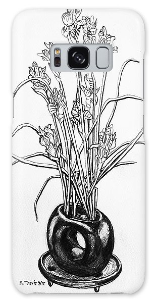 Galaxy Case - Flower Pot by Rich Travis