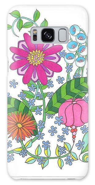 Flower Power 3 Galaxy Case
