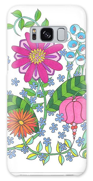 Flower Power 3 Galaxy Case
