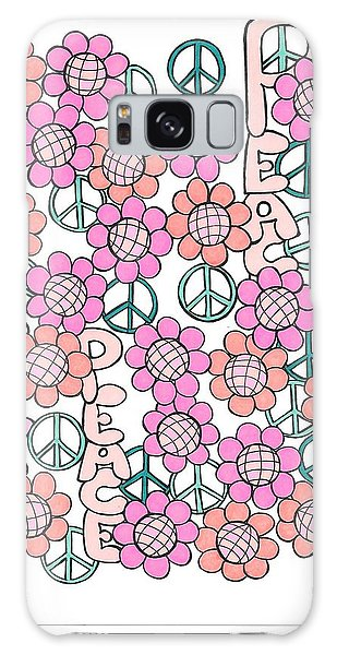 Flower Power 8 Galaxy Case