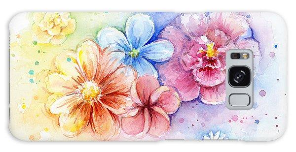 Plant Galaxy Case - Flower Power Watercolor by Olga Shvartsur