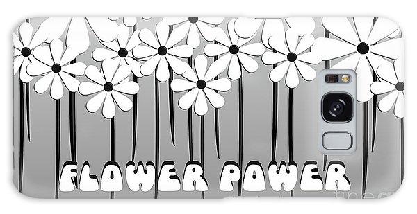 Flower Power - White  Galaxy Case