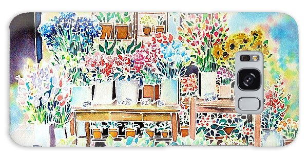 Flower Shop In Paris Galaxy Case