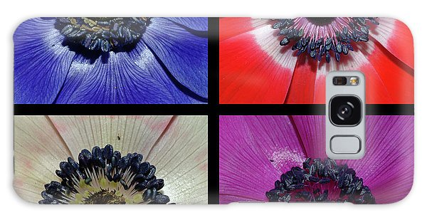 Flower Square Montage - Anemone Galaxy Case by Robert Shard