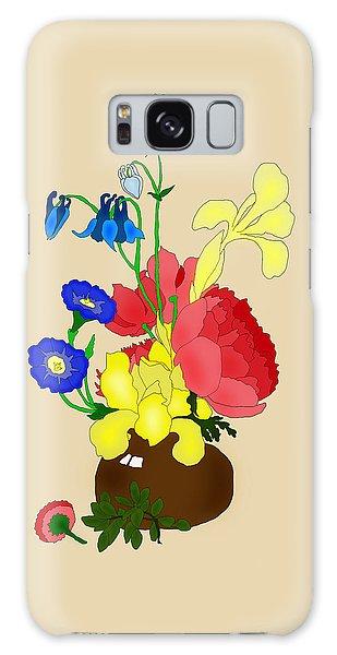 Floral Still Life 1674 Galaxy Case