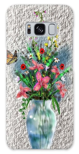 Galaxy Case featuring the digital art Flower Study Three by Darren Cannell