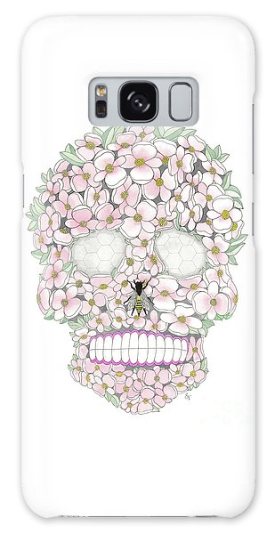 Flower Sugar Skull Galaxy Case