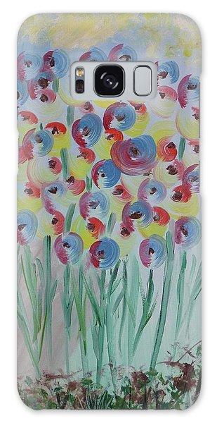 Flower Twists Galaxy Case by Barbara Yearty