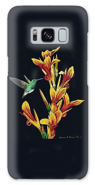 Flower With Bird Galaxy Case