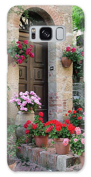 Flowered Montechiello Door Galaxy Case