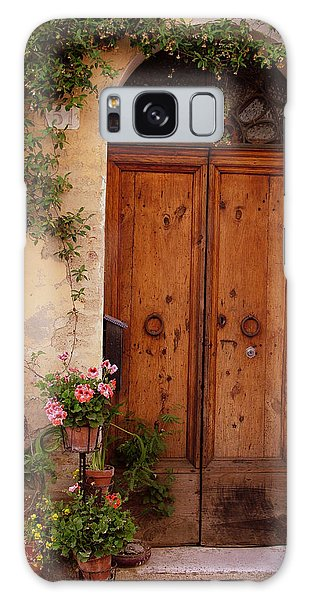Flowered Tuscan Door Galaxy Case