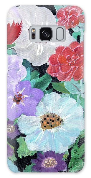 Galaxy Case featuring the painting Floweret by Robin Maria Pedrero