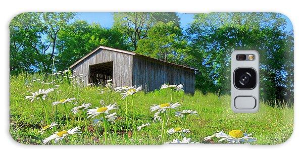 Flowering Hillside Meadow Galaxy Case