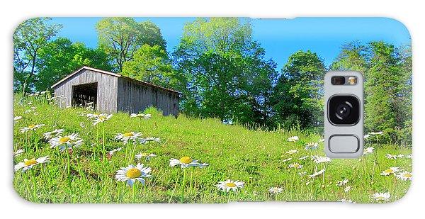 Flowering Hillside Meadow - View 2 Galaxy Case
