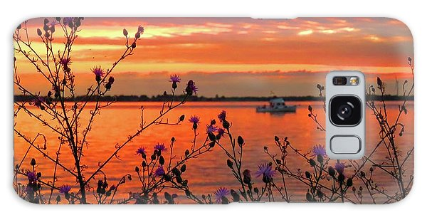 Flowers Along The Shore At Tibbetts Point  Galaxy Case