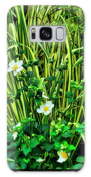 Flowers And Grass Galaxy Case