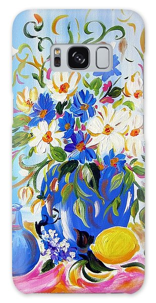 Flowers And Lemon Galaxy Case