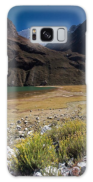 Flowers And Mountain Lake In Santa Cruz Valley Galaxy Case