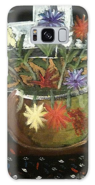 Flowers Galaxy Case by Artists With Autism Inc