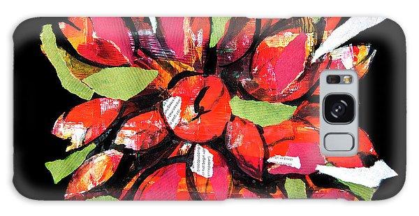 Flowers, Art Collage Galaxy Case