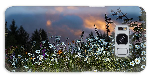 Flowers At Sunset Galaxy Case