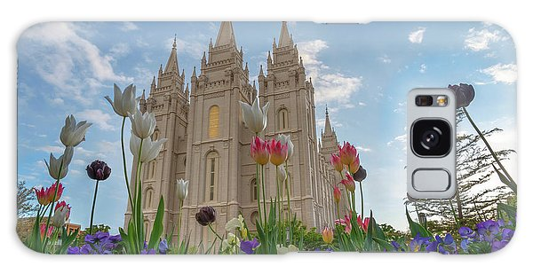 Flowers At Temple Square Galaxy Case