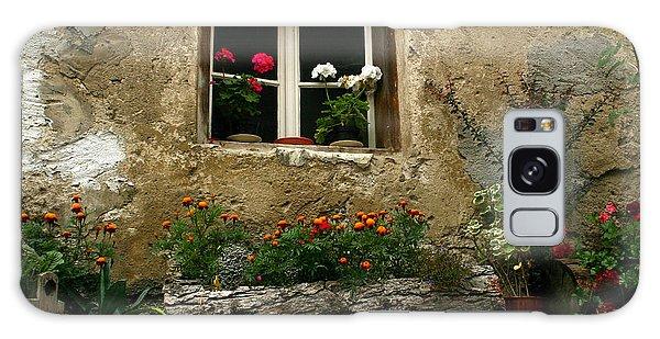 Flowers At Window Galaxy Case