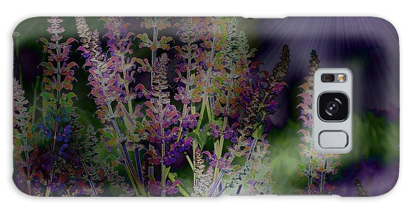 Flowers By Moonlight Galaxy Case by Barbara S Nickerson