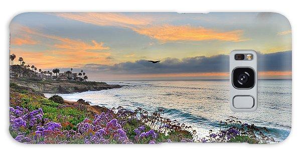 Flowers By The Ocean Galaxy Case