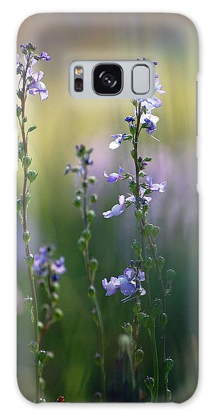 Flowers By The Pond Galaxy Case