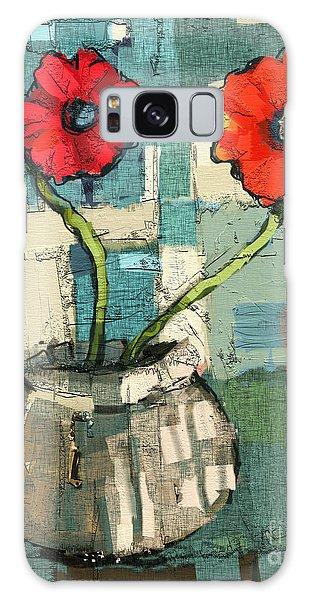 Flowers Galaxy Case by Carrie Joy Byrnes
