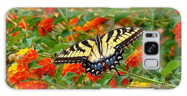 Flowers For Butterflies Galaxy Case