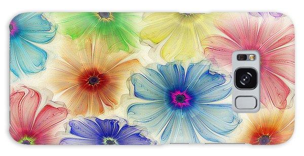 Flowers For Eternity Galaxy Case by Klara Acel