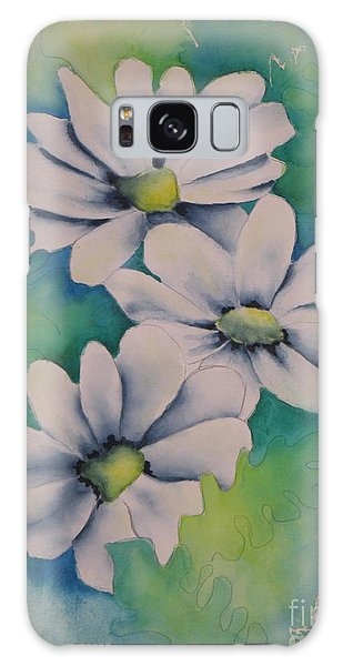 Flowers For You Galaxy Case by Chrisann Ellis