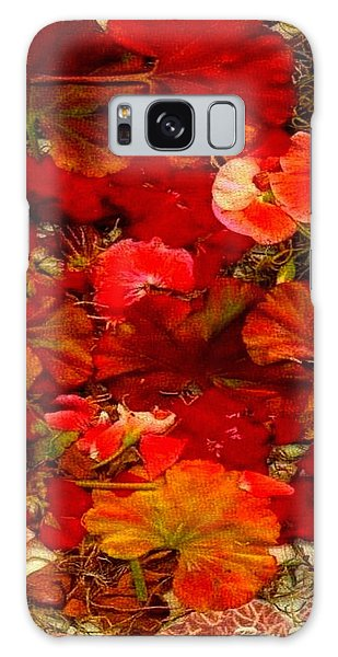 Flowers For You Galaxy Case by Ray Tapajna