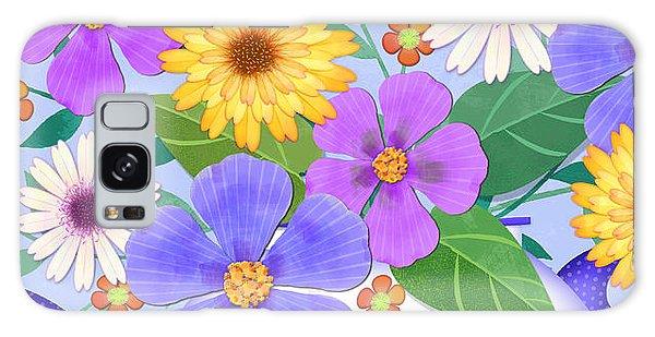 Flowers From My Garden Galaxy Case